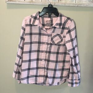 Jumping Beans Pink & Gray Flannel Shirt